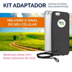 KIT ADAPTADOR P/ CELULAR IPHONE 4S - CF-415 AQUÁRIO