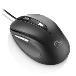 MOUSE CONFORT 6 BOTOES PRETO USB MULTILASER