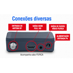CONVERSOR E GRAVADOR DIGITAL FULL HD S/ BOTOES DTV-4000S AQUARIO