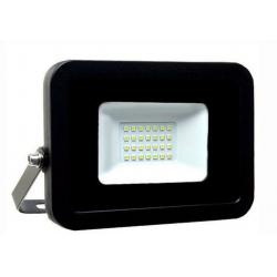 REFLETOR MICRO LED ULTRA THIN 30W BRANCO FRIO BLACK TYPE