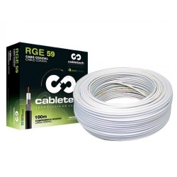 CABO COAXIAL RGC-59 40% BRANCO 100 MTS - CABLETECH