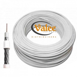 CABO COAXIAL RGC-6 60% - BRANCO 100 MTS - CABLETECH