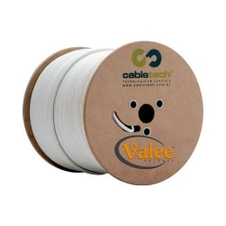CABO COAXIAL RGC-59 90% - BRANCO 305 MTS - CABLETECH