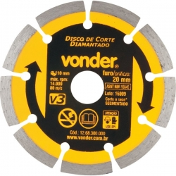 DISCO DIAMANTADO 110MM V3 FURO 20 VONDER